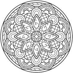 ▷ Über 1001 Mandala-Zeichnungen zum Drucken und Ausmalen un coloriage gratuit à imprimer en forme de mandala oriental au design en fleurs géométriques, Mandala Art, Mandalas Painting, Mandalas Drawing, Mandala Pattern, Zentangles, Abstract Coloring Pages, Mandala Coloring Pages, Coloring Book Pages, Mandala Oriental