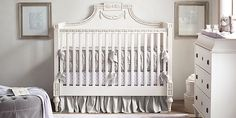 Roselle Conversion goes from crib, to toddler bed, to full.  From Restoration Hardware Baby & Child