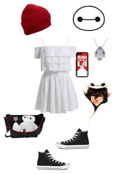 """""""Baymax"""" by tenom ❤ liked on Polyvore featuring Samsung, Eugenia Kim and Converse"""
