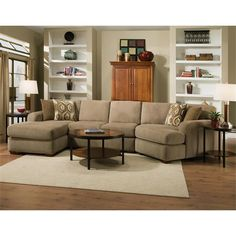 Chelsea Home Furniture 730154 GENS 47122 SEC Brady Harem Stone Sectional