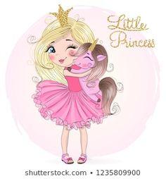 Cartera de fotos e imágenes de stock de Oksana Lysak | Shutterstock Rainbow Wallpaper, Disney Wallpaper, Cartoon Wallpaper, Cute Cartoon Images, Cute Cartoon Girl, Cute Doodle Art, Cute Art, Hello Kitty Drawing, Cool Clipart