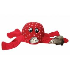Marshall Octo-Play is great for multiple ferrets inside or outside of their cage.    This octopus is made of soft fleece and is equipped with 11 holes placed around the head and tunnels.