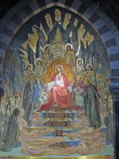 Sacred Heart mosaic in Paray-le-Monial, France, Paray, which so inspired this website devoted to Catholic tradition and His Sacred Heart … http://corjesusacratissimum.org