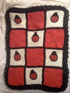 Ravelry: Ladybug Square pattern by Amelia Beebe