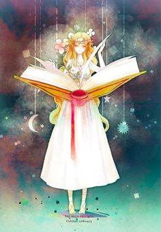 30 Illustrations That Make Reading Books Look Fun: The High Priestess by FishXun