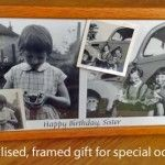 Personalised framed gift - perfect for birthdays, anniversaries, Christmas etc! Order now via http://mypicturesrestored.com