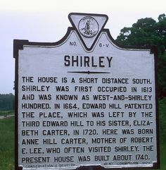 Shirley Plantation in Charles City County, Virginia