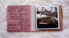 #journal #besottment.com Really love this idea of creating a mini album like this!