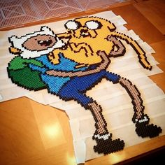 Finn and Jake - Adventure Time perler beads by the_collector_couple