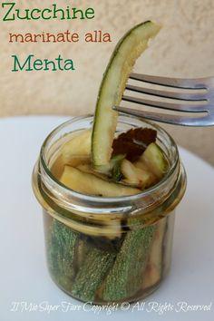 zucchine marinate alla menta ricetta blog il mio saper fare
