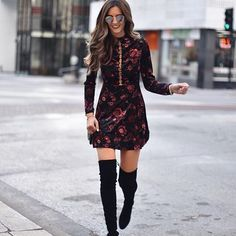 The perfect velvet dress ➕ it has the most amazing back detail! instantly shop my looks by following me on the LIKEtoKNOW.it app!  Shop this Dress here--> http://liketk.it/2tQ4O #liketkit @liketoknow.it