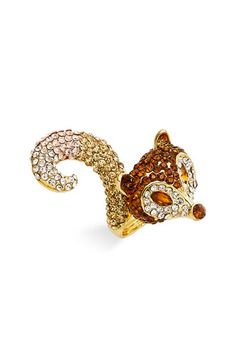 I just love Spring Street Design Group's jewelry.  I have a few rings, but this fox is one of my favorites!