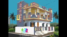 Low Budget House, Home Budget, Front Elevation Designs, House Elevation, Village House Design, Village Houses, Modern Small House Design, Exterior Paint, Architecture