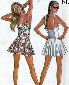 Vintage 80s New Look 6128 UNCUT Misses One Piece by RomasMaison, $22.00