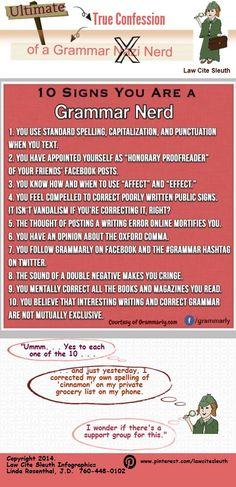 Blog Post Grammar Nerd | @Piktochart Infographic