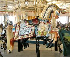 B & B Carousel Illions Fully Armored Signature Jumper - Steeplechase Plaza, Coney Island, NY © John Caruso