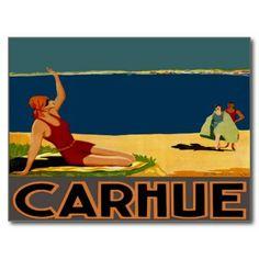 Viajes Carhue Argentina ~ del cartel del vintage Postales