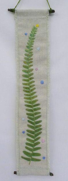 hanging no.1  needlework art Ⓒ Nagako Ono HAPPa_Ya #art #plants #hanging