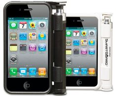 Pepper spray iPhone holder.  Anyone guess what happens next?