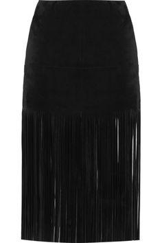 Valentino Fringed suede mini skirt #Valentino