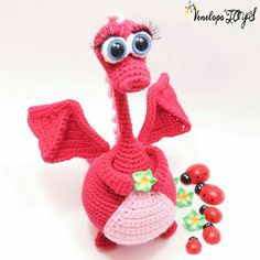 "PATTERN  The Dragon Amigurumi Crochet by VenelopaTOYS on Etsy, 6 1/2"" tall ($5.50)"