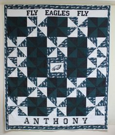 Philadelphia Eagles Personalized Lap Quilt by CannStitch on Etsy