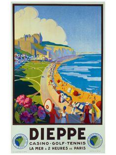 Vintage Travel Poster - France - Dieppe