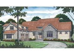 Craftsman House Plan with 5853 Square Feet and 6 Bedrooms from Dream Home Source | House Plan Code DHSW54314