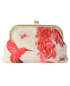 Miami Hummingbird Clutch in Apricot from Jigsaw