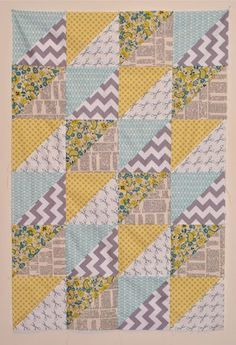 Quick Triangles Baby Quilt | Craft Buds