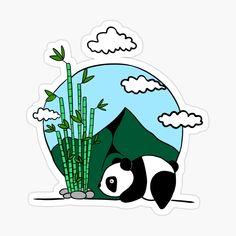 'Cute panda' Glossy Sticker by pixelpixelpixel Cute Panda, Glossier Stickers, My Arts, Art Prints, Clocks, Artist, Printed, Awesome, Shop