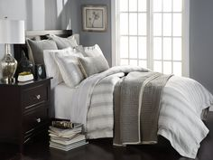 Urban trendsetters who have a keen eye for design and expect high-end quality fashion will love this modern, city chic bedding. Shop more bedding by calling (866) 285-5148 or visit us at: