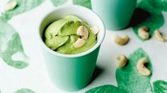 Super green: Add nuts to this creamy, dessert-like smoothie.