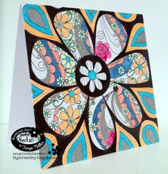 Card made using the Colour Therapy Florabunda 1 Collection from Polkadoodles http://whaticreatednext.blogspot.co.uk/2016/01/colour-therapy-1-florabunda-polkadoodles_8.html