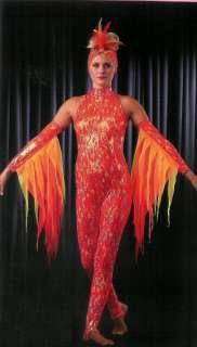 Unitard Dance Costumes | ETERNAL FLAME Stirrup Unitard Jumpsuit Dance Costume CXS,CS,6X7,CM,CL