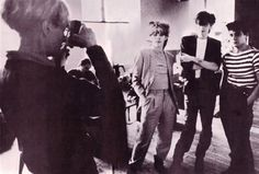 Duran Duran during a photo session with Andy Warhol in New York.