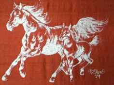 """Year of the Horse,"" batik on silk by Nicki Chen"