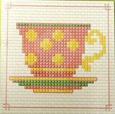 Tea Cup Cross Stitch