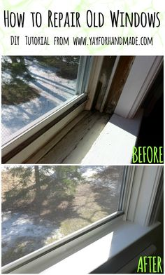 Yay for Home Fix-its! How to Repair Old Windows March 2014 Yay for Home Fix-its! How to Repair Old Windows Mobile Home Repair, Diy Home Repair, Remodeling Mobile Homes, Home Remodeling, Home Improvement Projects, Home Projects, Home Fix, Window Repair, Boho Home