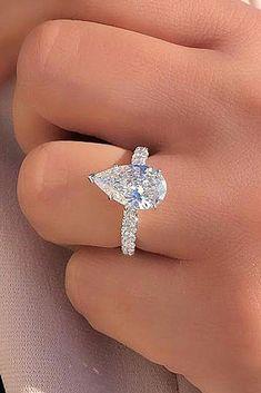 1df48ab8ed9 Diamond Engagement Ring -pear cut solitaire white gold - Joe Escobar  Diamonds  engagementring