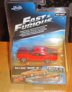 FAST AND FURIOUS Build And Collect DOM'S CHEVY CHEVELLE SS 1:64 Diecast JADA #JadaToys #Chevrolet