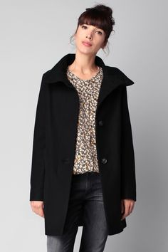 Manteau noir laine Chera Sessun sur MonShowroom.com