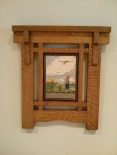 Craftsman frame arts and crafts style Author: unknown date: unknown Craftsman Style Furniture, Mission Style Furniture, Craftsman Decor, Craftsman Interior, Arts And Crafts Interiors, Arts And Crafts Furniture, Furniture Projects, Wood Projects, Woodworking Projects
