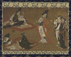 A Picnic Party | Color and gold on paper | Edo period | Japan | early 17th century | Gift of Charles Lang Freer | Freer Gallery of Art and Arthur M. Sackler Gallery | F1897.4