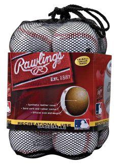 Official League Baseballs OLB3 Rawlings Bucket 12 Pcs Practice Recreational Use #Rawlings