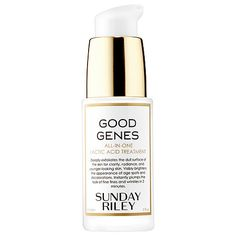 Shop Sunday Riley's Good Genes All-In-One Lactic Acid Treatment at Sephora. It exfoliates to reveal a smoother, radiant, and youthful-looking complexion.