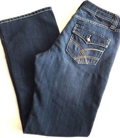 "INC Boot Cut Jeans Sz 10 International Concepts Distressed Stretch 32 x 31"" EUC…"