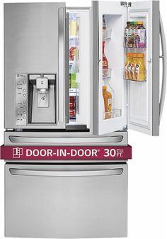 LG - Door-in-Door 29.9 Cu. Ft. 4-Door French Door Refrigerator with Thru-the-Door Ice and Water - Stainless Steel - Alt_View_Zoom_18