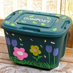 Decorate a Compost Bin- What a cute idea. This will be great for my garden and it will be so easy to rotate and shake up. I'm doing it!