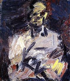 Frank Auerbach www.artexperiencenyc.com Frank Auerbach, Figure Painting, Painting & Drawing, Art Psychology, Oil Painters, Mark Making, Life Drawing, Watercolor Landscape, Figurative Art